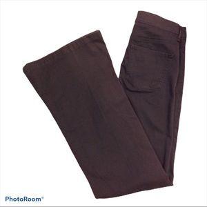 Express High Waisted Black Bell Bottom Jeans